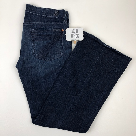 7 For All Mankind Denim - 7 for all mankind dojo flare jeans 28x30.5